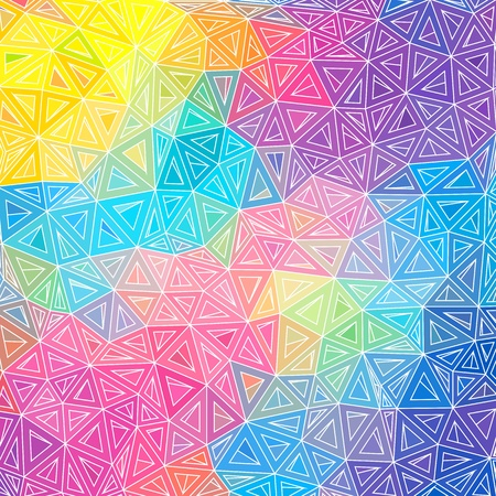 repeated: Colorful abstract triangles vector background