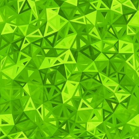 Green abstract triangles vector background Vector