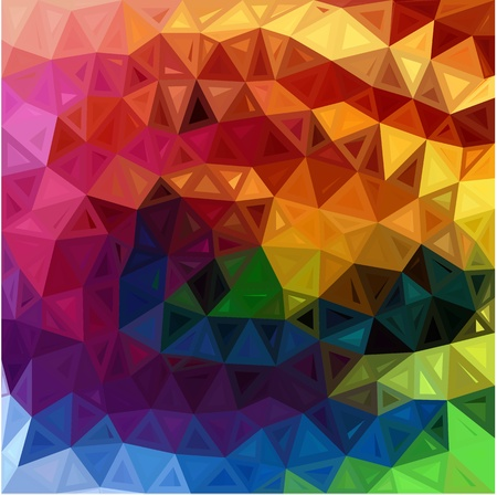 Rainbow colors abstract triangles background Stock Vector - 20185013