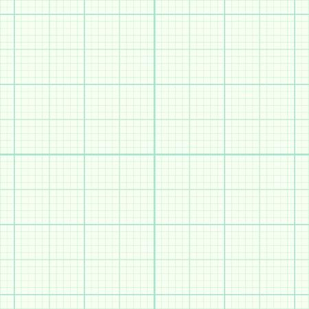 millimeter: Real size blue millimeter engineering paper Illustration