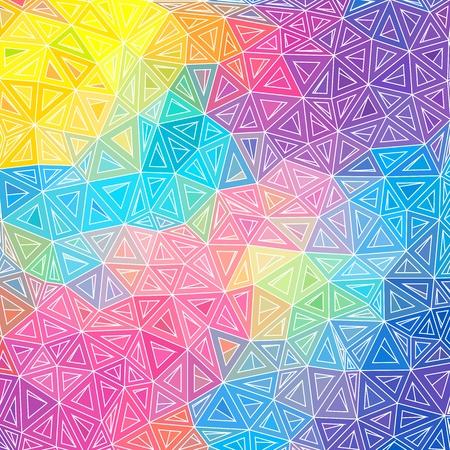 カラフルな抽象的な三角形のベクトルの背景  イラスト・ベクター素材