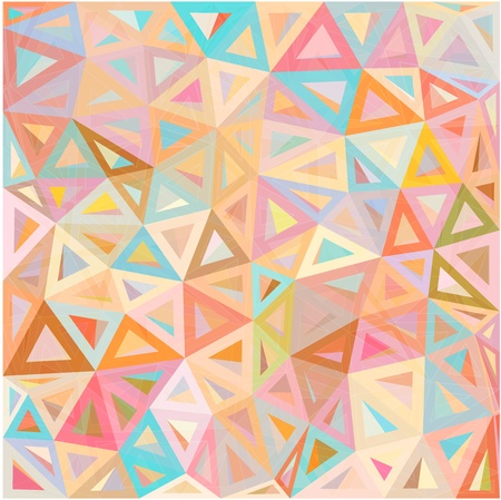 Pastel colors abstract triangles vector background Stock Vector - 20185015