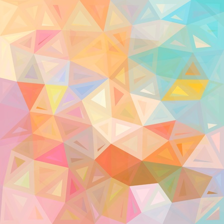 Pastel colors abstract triangles vector background Stock Vector - 20185008
