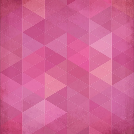 Abstract triangles vintage vector pink background Stock Vector - 20342446