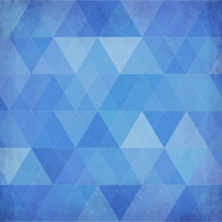 Blue vintage triangles vector background Stock Vector - 20342447