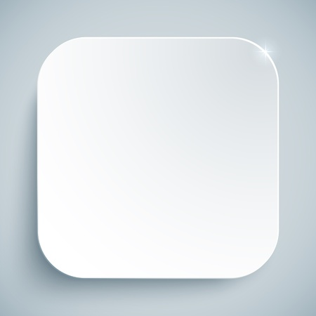 app banner: White standard icon vector empty template Illustration