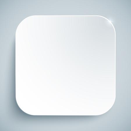 Witte standaard pictogram vector lege sjabloon Stock Illustratie
