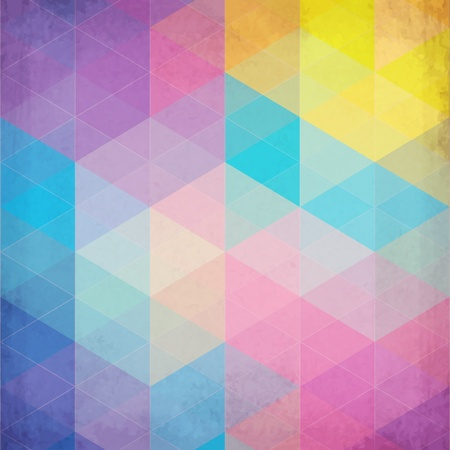style: Colorful abstract triangles abstract background