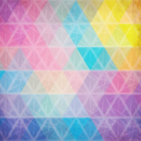 geometric pattern in a square: Colorful abstract triangles abstract vector background