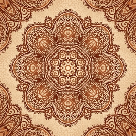 Ornate vintage napkin background in Indian mehndi style