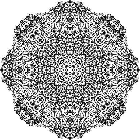 Lacy ornate black napkin on white background Stock Vector - 20723103