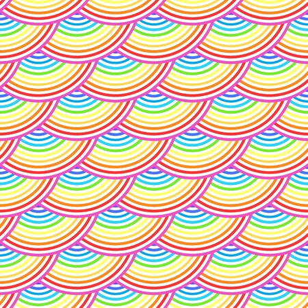 Rainbow fish scales vector seamless pattern Vector
