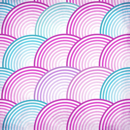 Pink retro fish scales vector seamless pattern Vector