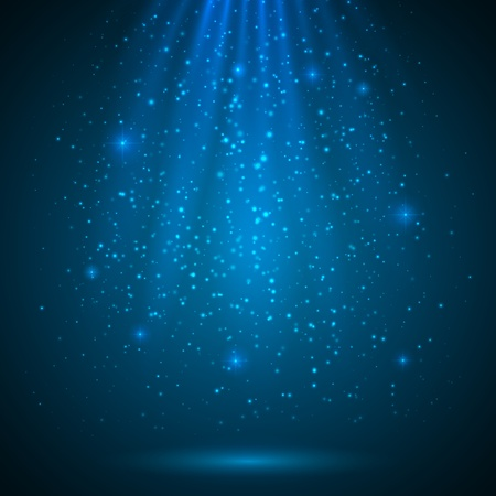 Blue shining magic light vector background Çizim
