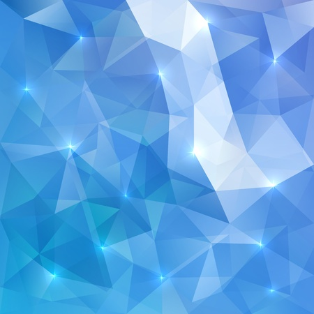 Blue abstract vector shining ice background Çizim
