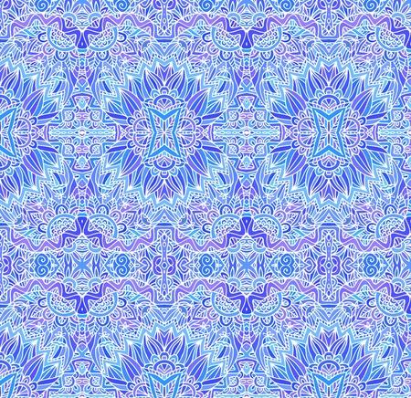 Blue ornate vector seamless pattern Vector