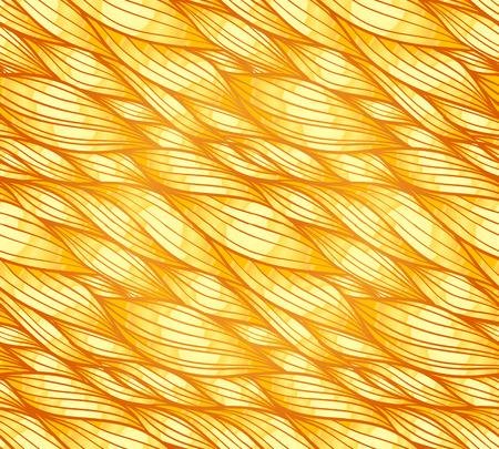 golden hair: Golden hair vector abstract wavy seamless pattern