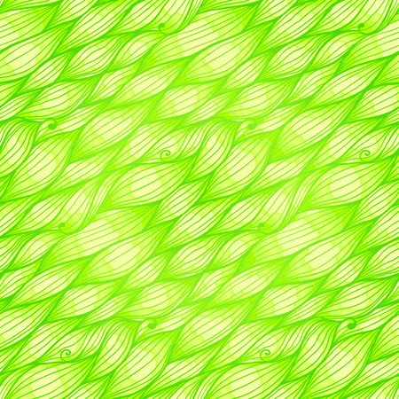Green grass doodle waves vector seamless pattern Stock Vector - 25727814