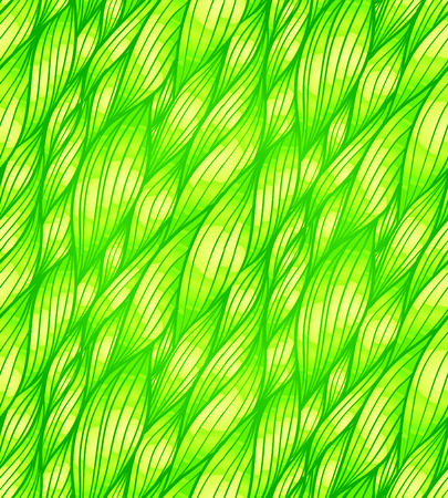 Green doodle grass hair vector seamless pattern Stock Vector - 25727816
