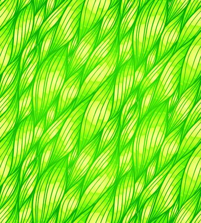 Green doodle grass hair vector seamless pattern Stock Vector - 25727816