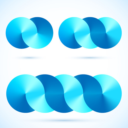 Abstract blue glossy connected infinity disks symbols Stock Vector - 25728753