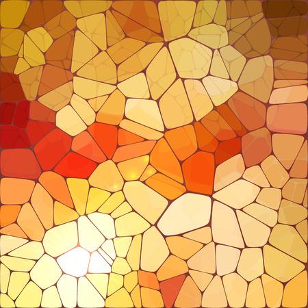 Fel oranje glanzende vector tegels glasmozaïek