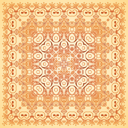 Vintage beige lacy ornate shawl vector pattern Vector