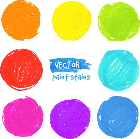 colors paint: Rainbow colors vector paint stains Illustration