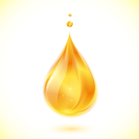 oil drop: Realistic oil or honey isolated vector drop