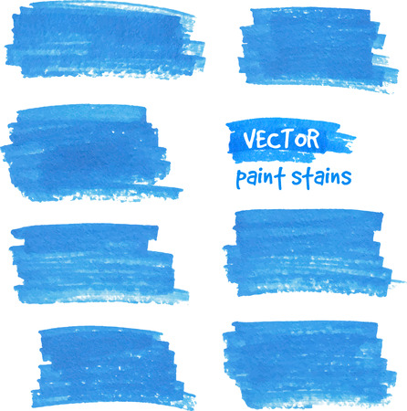 Vector spot of paint drawn by blue felt pen Illustration