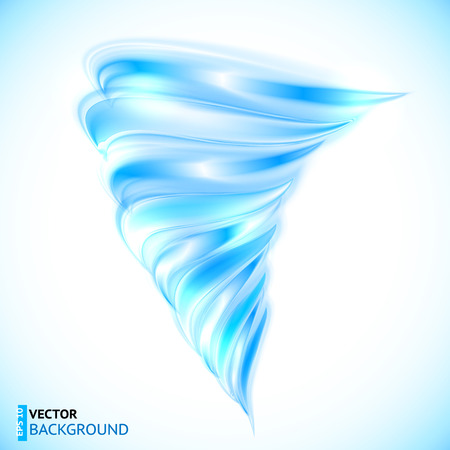 Blue vector glänzend glänzend, verdrillte Tornado Illustration