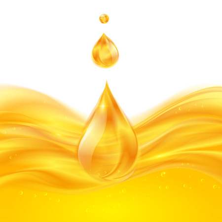 Yellow liquid oil or juice vector background