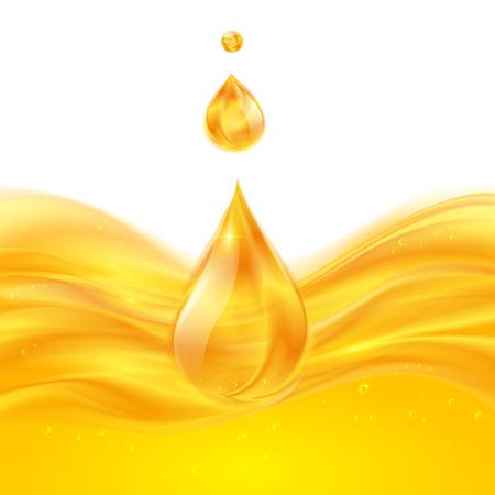 liquid: Yellow liquid oil or juice vector background
