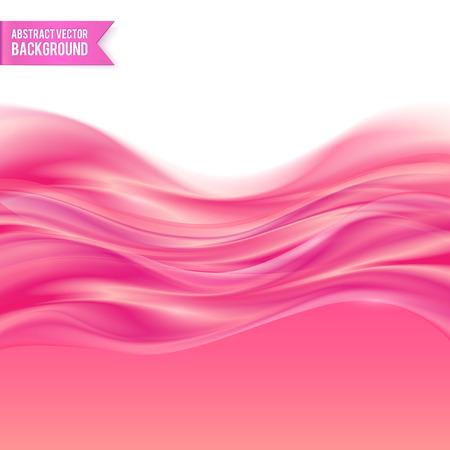 핑크 액체 광택 젤리 추상적 인 벡터 배경 일러스트