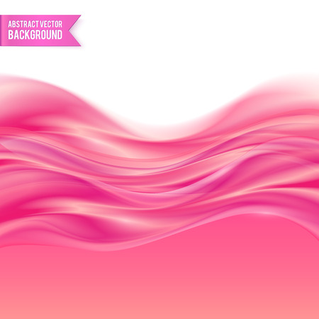 Pink liquid glossy jelly abstract vector background