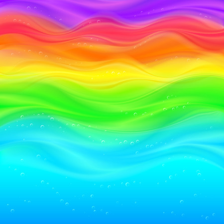 coloured background: Abstract rainbow vector waves colorful smooth background