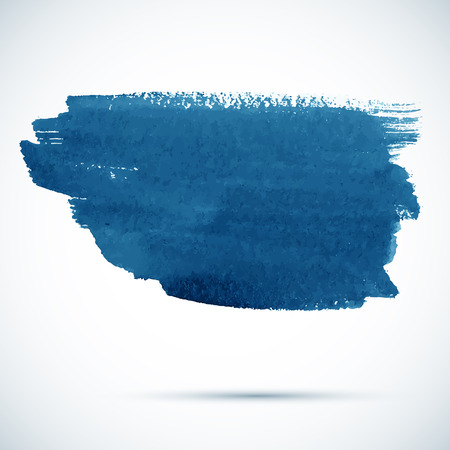 Blue vector paintbrush stain Vector