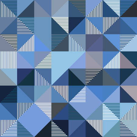 Abstract triangles geometry vector blue and gray background Vector