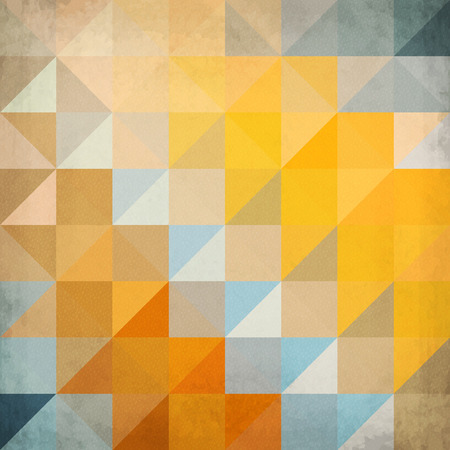 Abstract orange triangles geometry vector background Vector