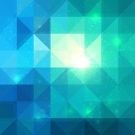 Bright abstract triangles grid blue vector background
