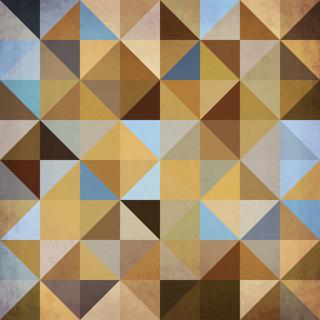 Abstract brown triangles geometry vintage vector background Vector