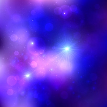 Dark blue shining lights cosmic vector background Vector