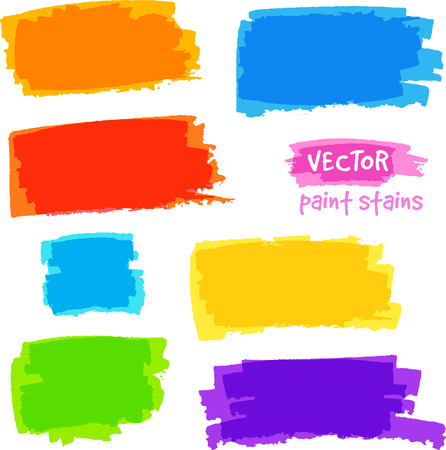 Bright rainbow colors vector pain spots set Vector