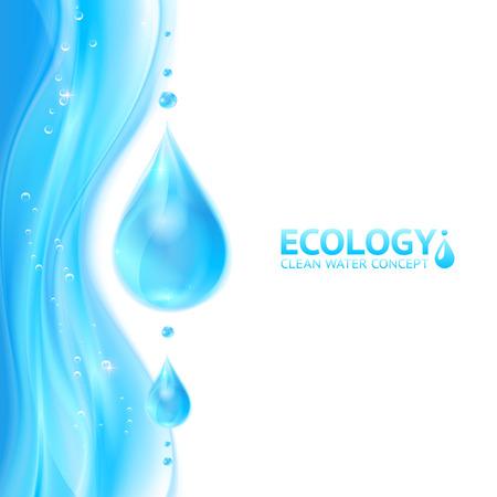 fresh water splash: Wassertropfen Vektor �kologie Hintergrund
