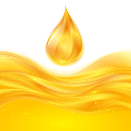 Yellow liquid oil or juice vector background Vector