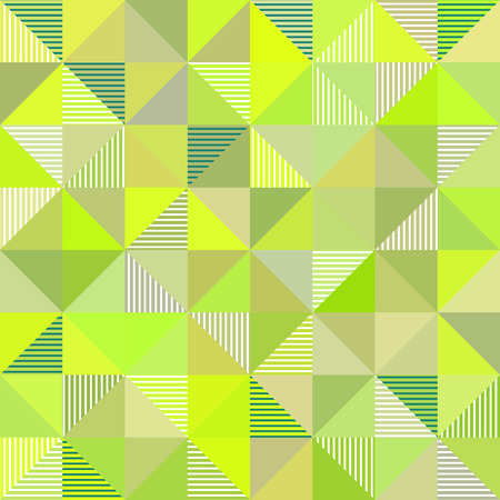 Abstract triangles geometry vector light green background Vector