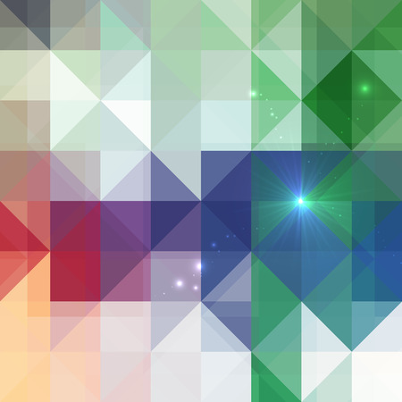 Abstract triangles shining vector mottled colors background