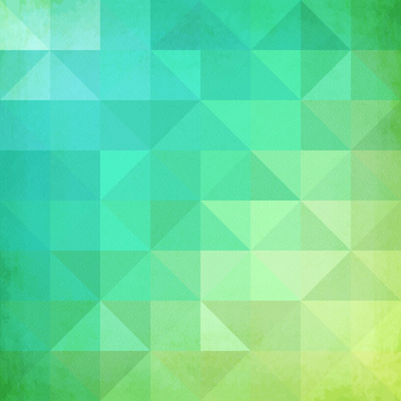 Abstract geometry triangles mottled green vector pattern Illustration