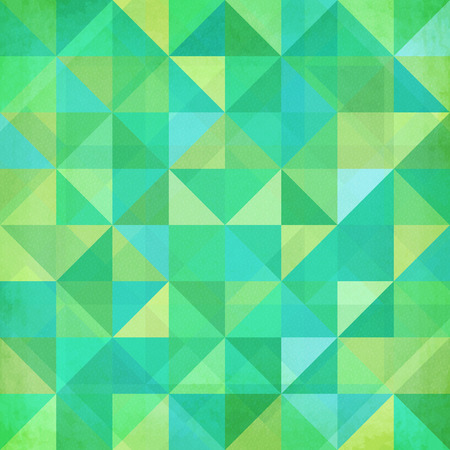 Abstract geometry triangles mottled green vector pattern Vector