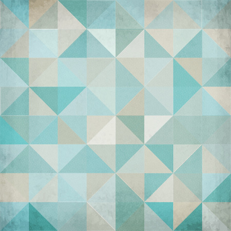 Vintage light blue triangular vector abstract background